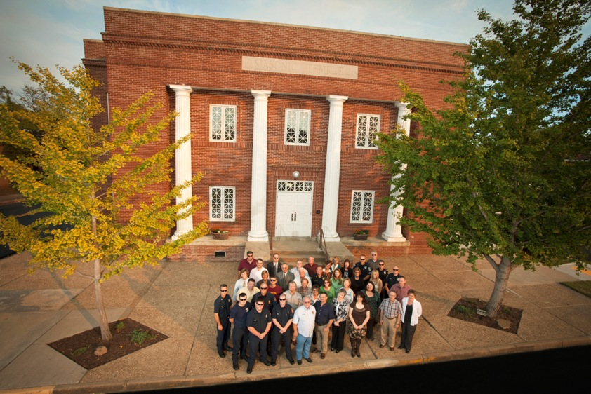 City employees gathered for group picture