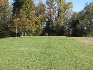 The 2nd basket of the Pleasant View Disc Golf Course