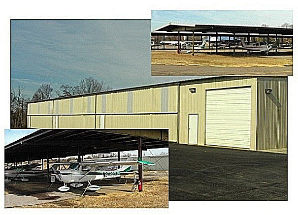 Hangar inside and outside view
